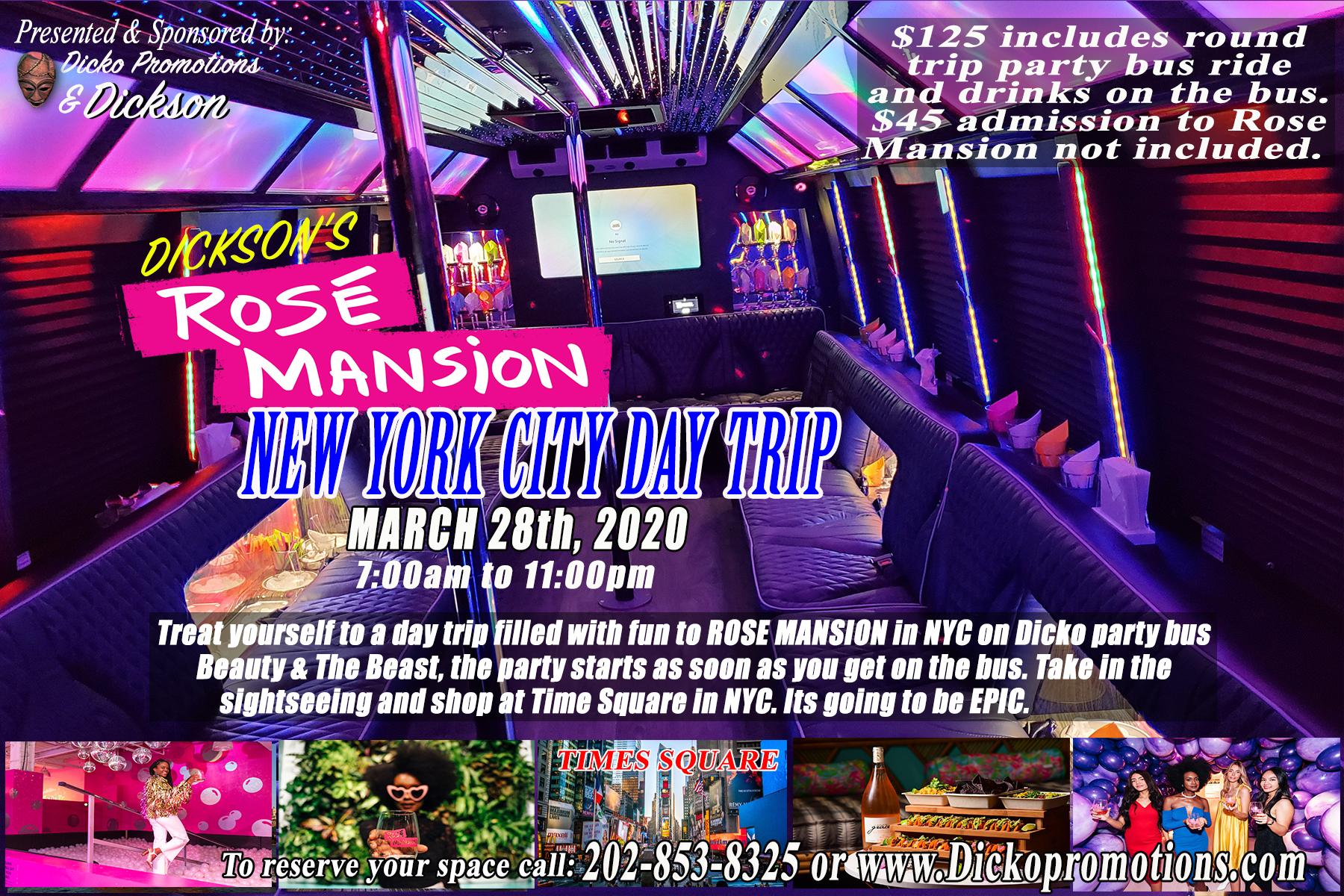 Rose Manson March 28th NYC getaway